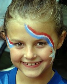 cats, shooting stars, 4th of july face painting, face paintings, kid face, 4th fun, facepaint, juli face, parti