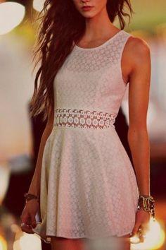 Pretty white lace.