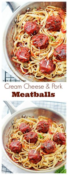 Cream Cheese Pork Meatballs | www.diethood.com | These amazing Pork Meatballs are stuffed with cream cheese, panko crumbs and a good dose of garlic! |#recipe #meatballs #dinner #pork