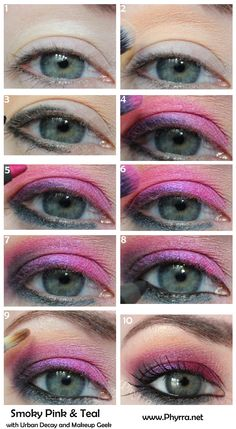 Smoky Pink and Teal Tutorial. Pin now, read later. - Tropical Vacation Contest Ends 3/22/13