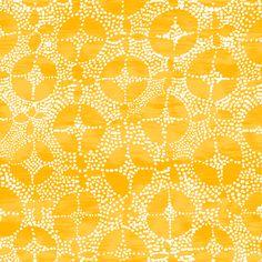 yellow print, hand drawn