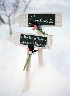 Winter wedding decoration. Photo by Aneta MAK