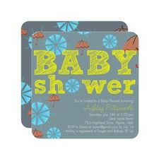 Umbrella Doodle: Margarita Baby Shower Invitations