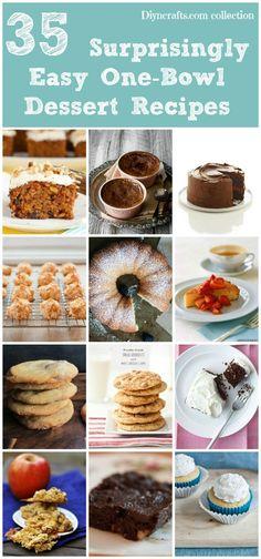 35 Surprisingly Easy One-Bowl Dessert Recipes #onebowl #desserts #easy #dessert #recipe #delicious