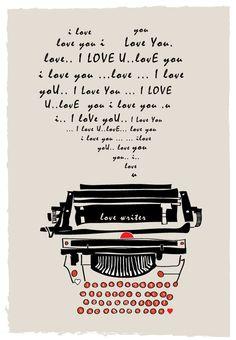 Love writer typemachine