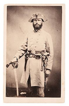 The Battle of Fort Smith was fought in western Arkansas on July 31st 1864.Note General Richard Gano's tricorn hat (as in 1776) and the interesting gunbelt.Physician & Protestant minister .1830- 1913