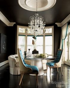 Love the pop of turquoise