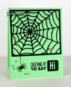 Spooky Sentiments, Centerpieces Spooky Window Die-namics, Spider Web Cover-Up Die-namics - Michele Boyer #mftstamps