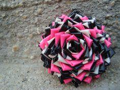 Pink, White & Black Flower.