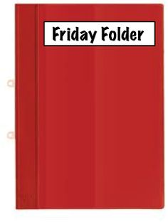 Organize student graded work with Friday Folders.