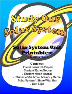 Over 20 pages of Solar System Printables.