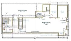 The plan reveals how the spaces relate to one another. Closets include storage for fishing gear, a sump pump and a place in which to tuck aw...