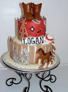 cowboy birthday cake @Stephanie Clift