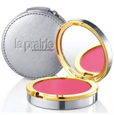 For cheery, uber flushed snow bunny cheeks, La Prairie Mauve Glow Cellular Radiance Cream Blush in Mauve Glow (212 872 2623).