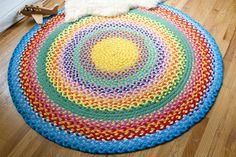 rainbow rug from T-shirt yarn