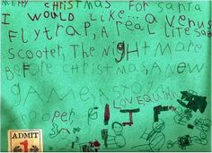 Real Letters to Santa from Kids Printables
