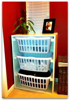 DIY laundry storage - someone must build this for me!!
