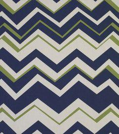 Outdoor Fabric - Solarium Tempest Navy | Find navy chevron outdoor fabric at Joann.com