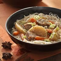Everyday Health: Chinese Pork and Vegetable Hot Pot Pork shoulder becomes meltingly tender during the slow braise. Serve over noodles or brown rice. Get the recipe.