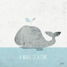 'Whale Of A Time' print