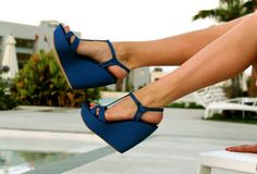 T-Strap wedges.