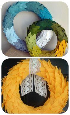 how to make a wreath diy fall wreath, fabric wreaths, DIY Yarn Wreaths, Felt Wreath Tutorials, Door Wreaths, Rag wreath, Book Page Wreath, Coffee Filter Wreath Tutorials, , Thanksgiving Wreath,