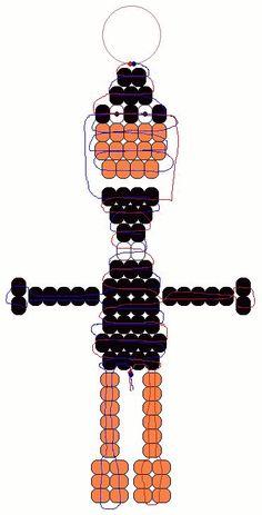 Daffy Duck beadie pattern
