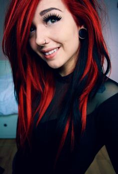 My hair totally was this Red  Black….for many years!