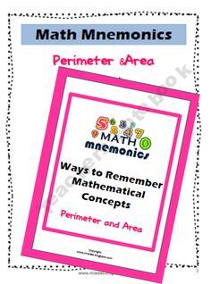 Math Tricks Mnemonics- Perimeter and Area Poster  product from ATeachersIdea on TeachersNotebook.com