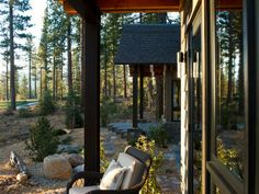 This private patio outside the master suite offers an ideal spot to take in the beautiful scenery — from the golf course fairway and ponderosa pine forest to snowcapped, 10,000-foot-high Mount Rose on the horizon.    http://www.hgtv.com/dream-home/backyard-pictures-from-hgtv-dream-home-2014/pictures/index.html?soc=pindhm