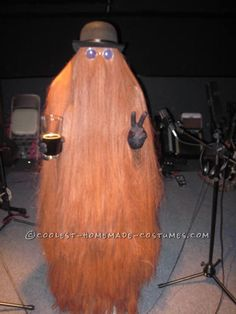 Cool Homemade Cousin Itt Costume for Halloween... This website is the Pinterest of costumes