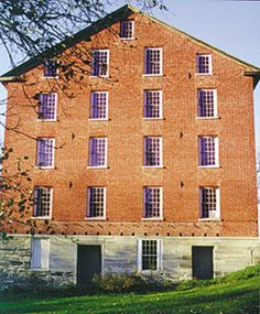 Four-story brick Brothers' Shop at Mount Lebanon Shaker Village in New Lebanon, New York--characteristic of those found in many Shaker communities  Courtesy of Mount Lebanon Shaker Village