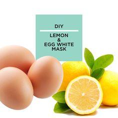 DIY Lemon & Egg White Face Mask.