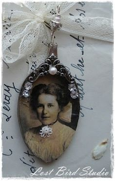 DIY Necklace ~ Altered Spoon with cherished photo {Lost Bird Studio}