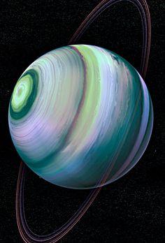 False color image of Uranus