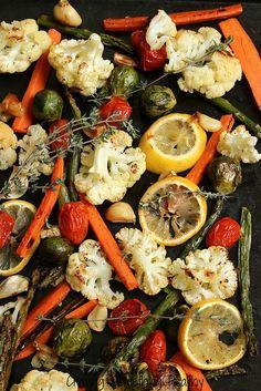 Lemon Thyme Roasted Vegetables Craving Something Healthy.