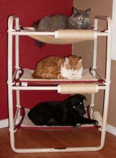 PVC indoor cat tower