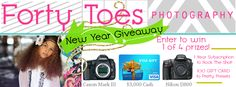 NEW YEARS BASH GIVEAWAY from Forty Toes Photography!