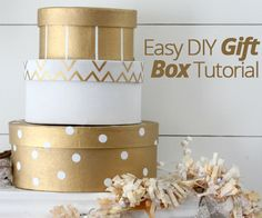 A quick, easy, DIY #gift box tutorial that you can use to package up a special #present or two this #holiday season.