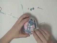 Six Petal Flower Kimekomi Ornament - YouTube
