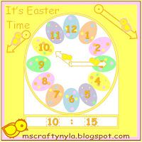 Easter Clock Craft - It's Easter Time $