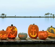 Coastal Living's Pumpkin Carving Ideas & Templates. Up for the challenge? Featured on CC: http://www.completely-coastal.com/2012/09/pumpkin-carving-ideas-free-templates.html