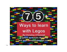 In this mega unit you will find more than 75 activities you can do to teach your students using legos. Legos are a staple in every classroom for fu... prek classroom, stuff, preschool math, learn, homeschool, legos, educ, teach, kid