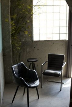 Industrial chairs from HD Buttercup. #HDButtercupxgoop