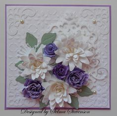 Selma's Stamping Corner: Purple and White Flowers