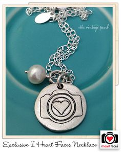 Exclusive I Heart Faces Camera Necklace by The Vintage Pearl. #necklace #photography