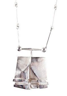 """Björn Weckström for Lapponia Jewelry ~""""02X"""" 925 silver #necklace, 1972   Bukowskis.com"""
