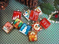 Christmas Scrabble Tile Pendants - by Mango and Lime Design