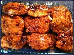 Crunchy Honey Garlic Pork Chops -- droooool