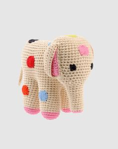 ANNE CLAIRE croched plush elephant